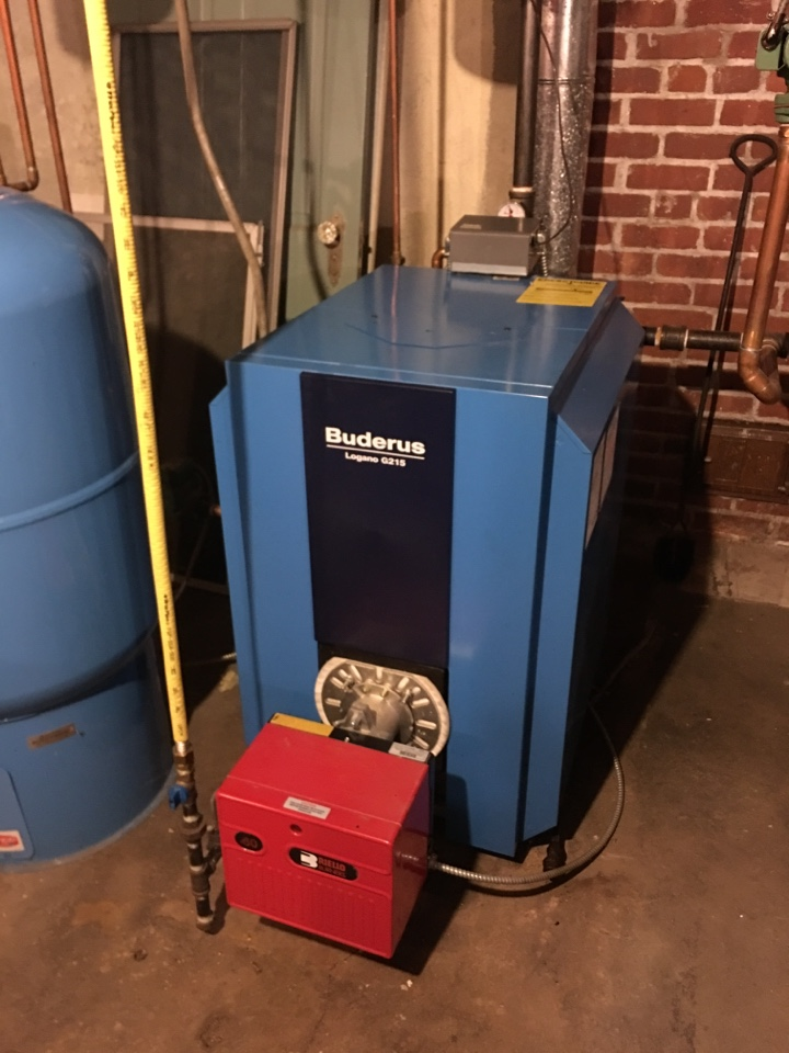 West Hartford, CT - Heat tune up on Buderus boiler with gas conversion burner