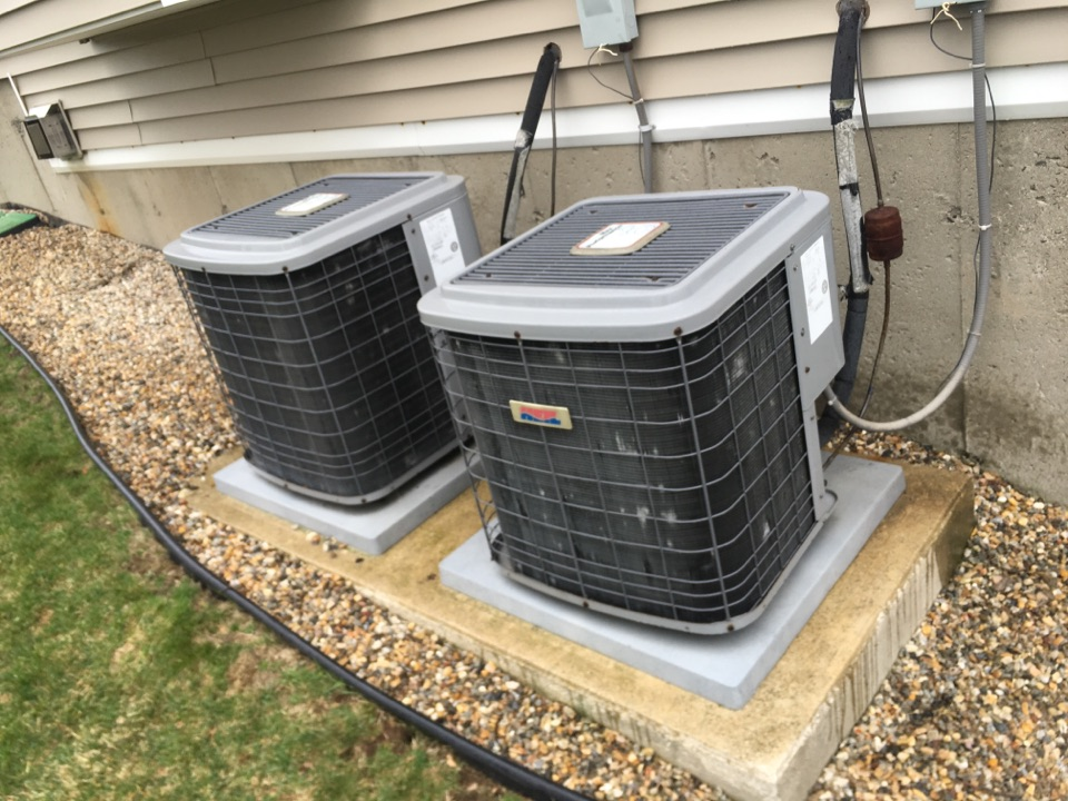 Burlington, CT - Tune up on two Heil AC systems.