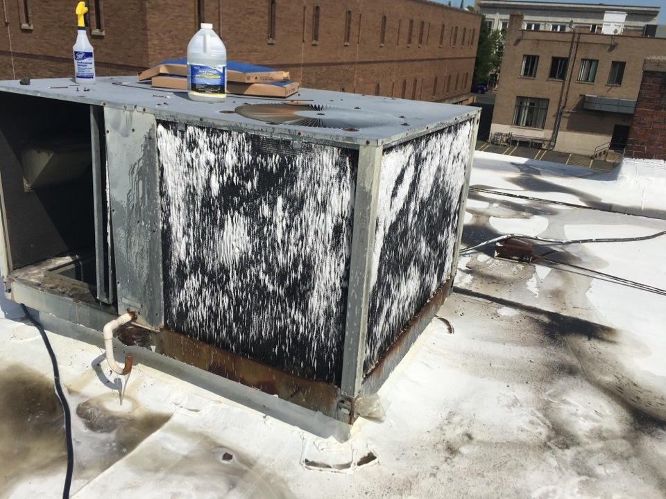New Britain, CT - Deep cleaning of condenser and evaporator coils.