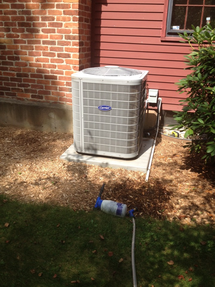 Canton, CT - Customer had condensation coming from registers. I was able to resecure the insulation. The system is a carrier infinity that hadn't been serviced in 2 years. So I performed a tune up and customer signed to our comfort club