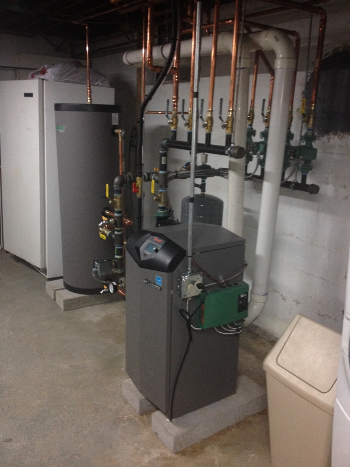 East Hartford, CT - Install Lochinvar Knight boiler and indirect water heater