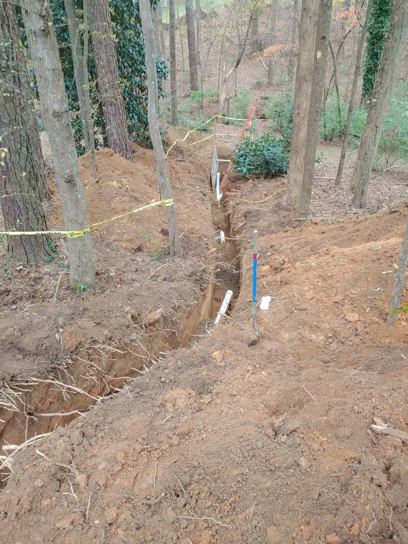 Residential sewer tap, and sewer line to assist a family with septic tank issues on the day before Thanksgiving