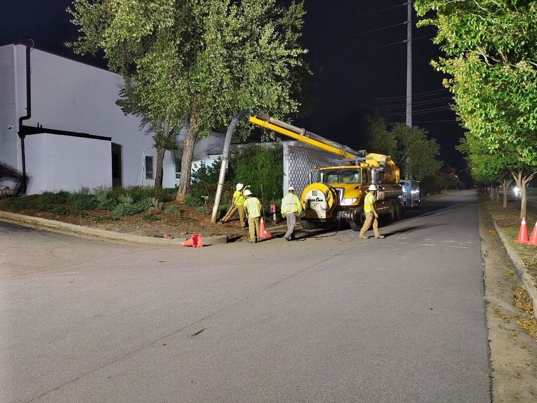 Water service installation for brewery on Capital boulevard work has to be done at night per traffic