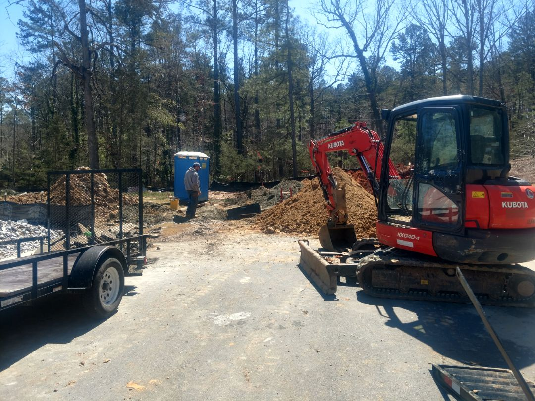 Raleigh, NC - Installing a new water service in north Raleigh.