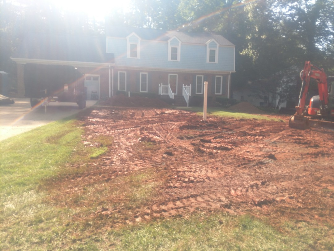 Raleigh, NC - Residential sewer line install and abandonment of existing septic tank.