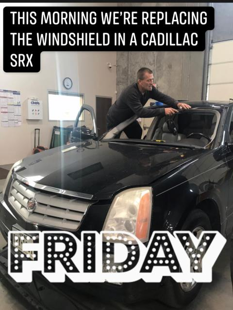 REPLACED CUSTOMER'S WINDSHIELD ON HER CADILLAC SRX!