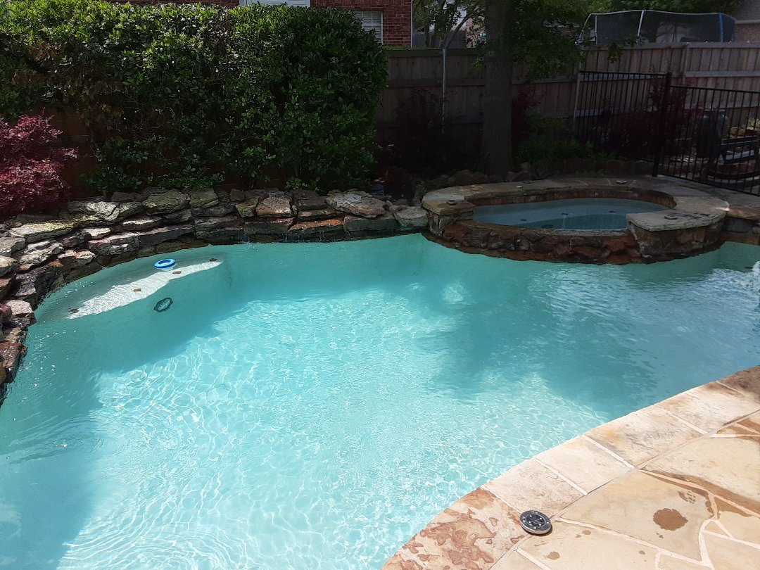 McKinney, TX - Weekly cleaning and maintenance of pool with a Jandy DEL60 filter.