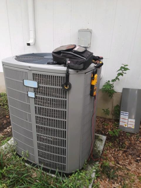 Buda, TX - Perform 1 system cooling tune-up. Check all mechanical, safeties and system performance. Purge drain and clean outdoor coil. Blower motor bearings making a slight grinding sound however motor is still operational at this time. System working at completion of tune-up.