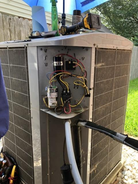 Austin, TX - Found the voltage enhancer completely dead on the fan side. Customer chose the Platinum option for repair. I checked the system in cool after making repairs. The system is cooling properly at this time. See attached quote for maintenance.