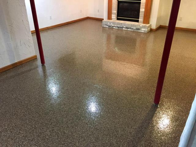 Cincinnati, OH - Looking to start your New Year's resolution early? Transform that crowded, dingy basement into a lovely family room today with Epoxy Flake! Message us for a FREE quote to get started on your project today!!
