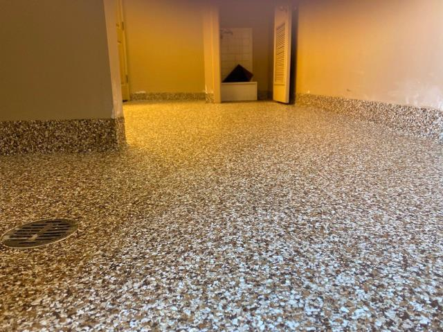 Cincinnati, OH - The professional and personal feel Signature Coatings provides really sold me! They came out to fix and remodel our bathroom floor! If you have cracked or uneven concrete, call on these guys. They will make it look beyond beautiful! Very happy we chose them and will keep them in mind for all future projects!