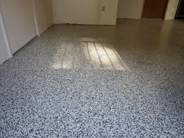 Cincinnati, OH - The professional and personal feel of Signature Coatings really sold on this project! We had Sam repair our basement floor this summer, and it turned out great! We had issues with the basement flooding whenever it rained. Once Sam fixed the cracks and damages on the floor, he suggested that we do the GRANIFLEX system to help prevent damages to the concrete. We are so pleased we decided to go with Signature Coatings. We have had no issues since he came out and repaired/remodeled our basement. It has been dry for months!!! Thank you, Signature Coatings, for a job well done! I highly recommend Signature Coatings for any concrete services you need to be done!