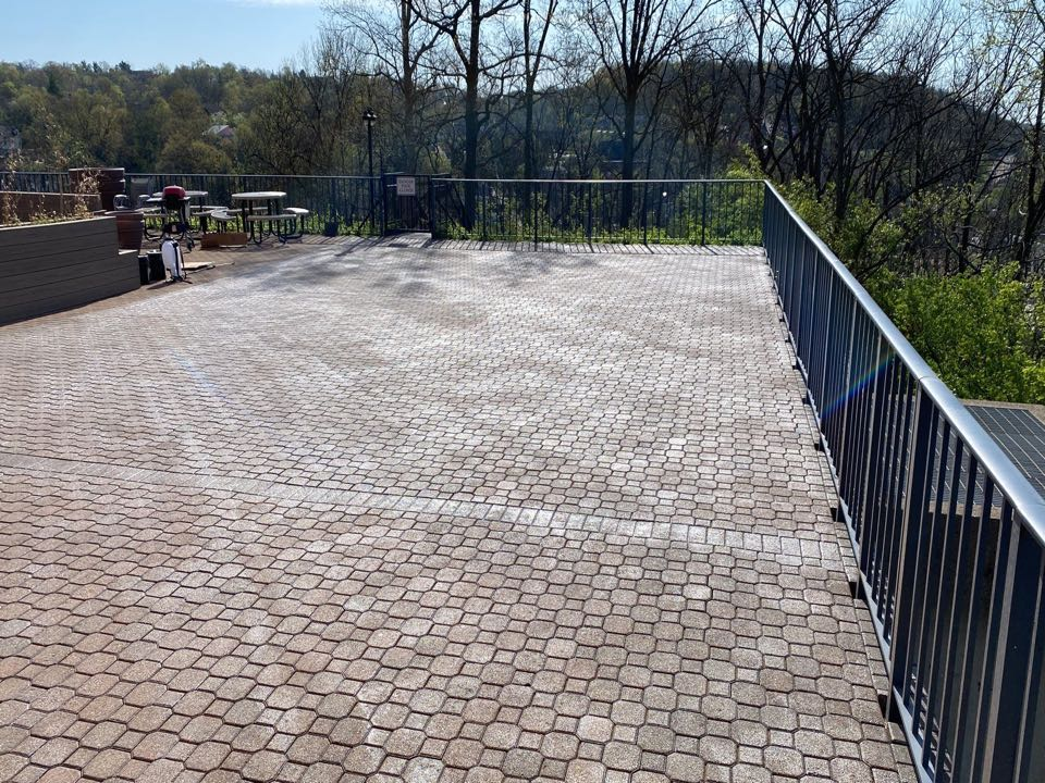 Cincinnati, OH - The crew is about to start the patio pressure wash and seal with an acrylic sealer in Cincinnati Ohio.