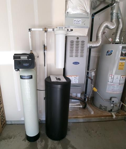 McCall, ID - Water softener and filter to remove iron in McCall Idaho new home.