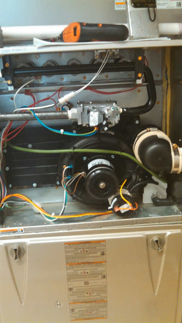 Burlington, NJ - Warranty repair on a Carrier gas Furnace