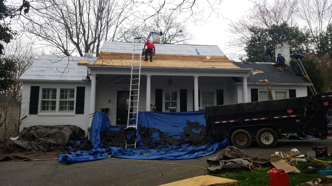 Hickory, NC - Storm damage insurance approved roof replacement.