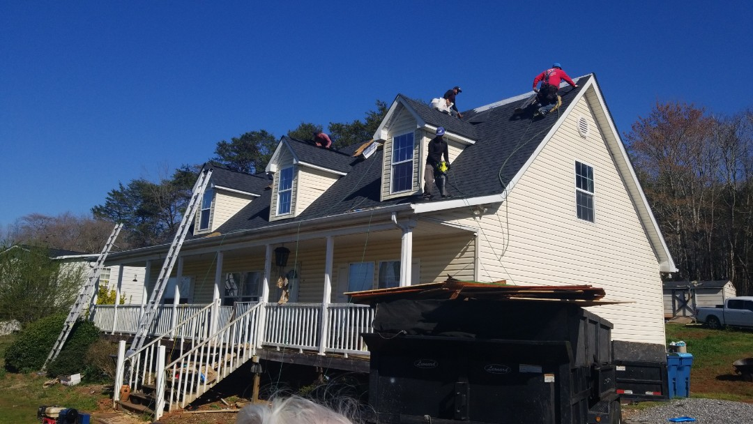 Newton, NC - Roof replacement with decking repair from a leaking roof with Todd Moody.