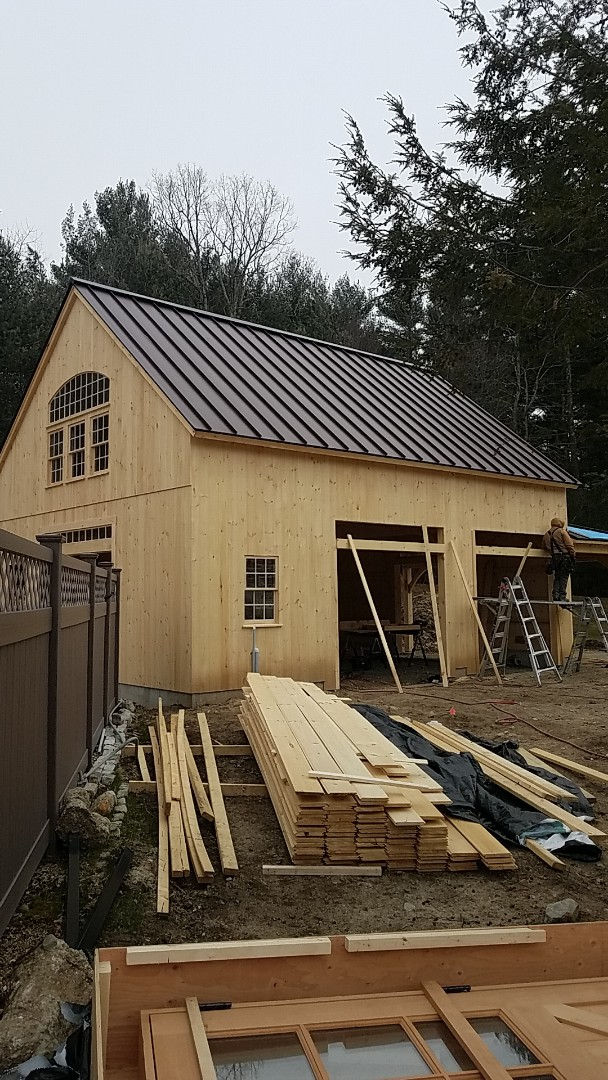 Upton, MA - Aluminum standing seam snap lock pannel roof