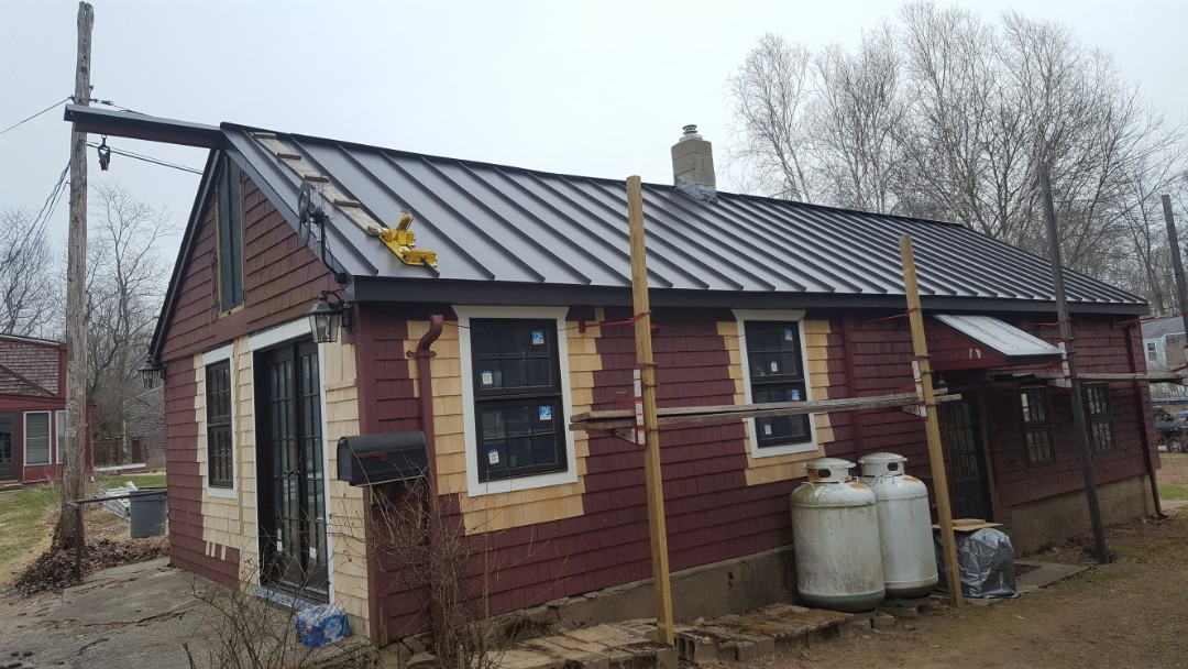 North Kingstown, RI - Standing seam aluminum metal roof in North Kingston Rhode Island.