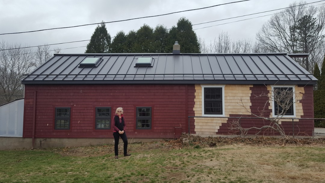 East Greenwich, RI - Aluminum standing seam metal roof in North Kingston Rhode Island is complete.