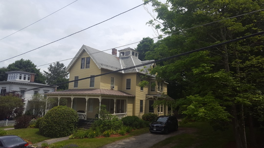 Clinton, MA - Remove slate roofing and install aluminum standing seam metal roof in Clinton Mass.