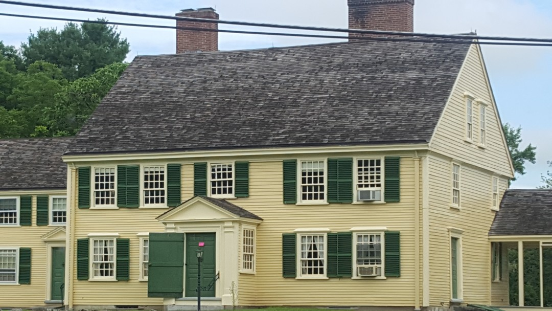 Concord, MA - Historic colonial with cedar shake roof.