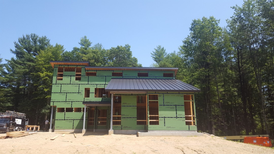 Merrimack, NH - Aluminum standing seam roof in Merrimack NH .