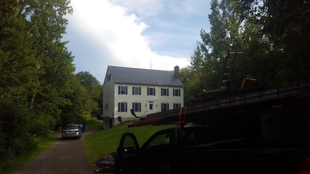Westminster, MA - Aluminum oxford shingles color Vermont Slate in Westminster Mass .