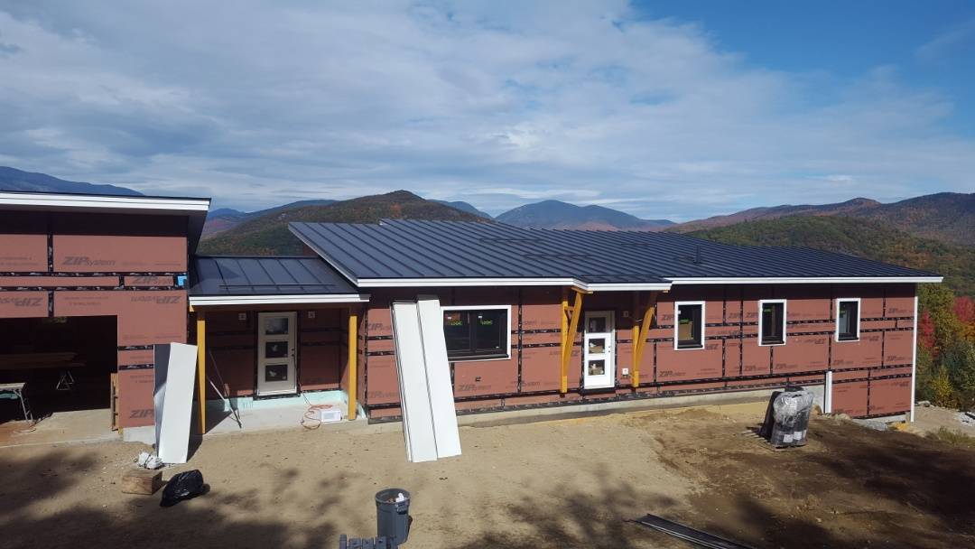 Jackson, NH - We are ready for snow and wind in Jackson New Hampshire. ALUMINUM METAL ROOF color matte black.