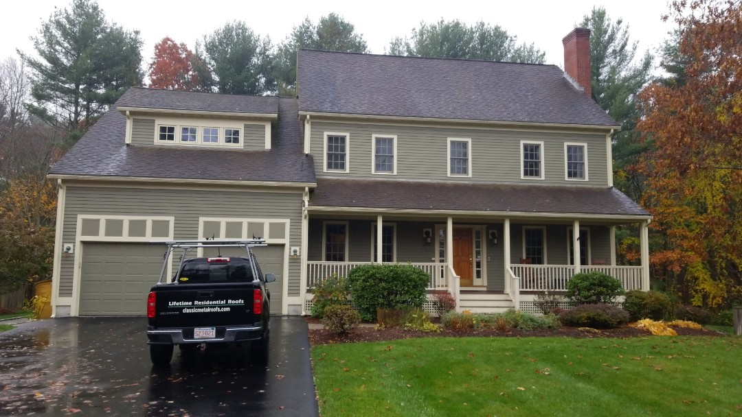 Sudbury, MA - Time for a new aluminum  metal roof.