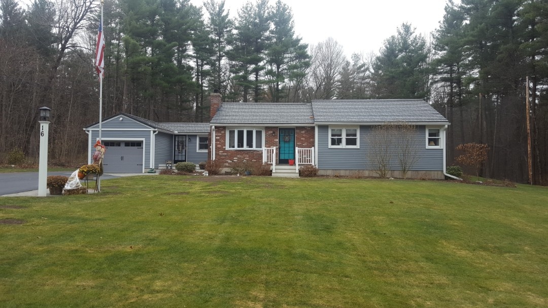 Sterling, MA - Aluminum metal shingles color Vermont Slate