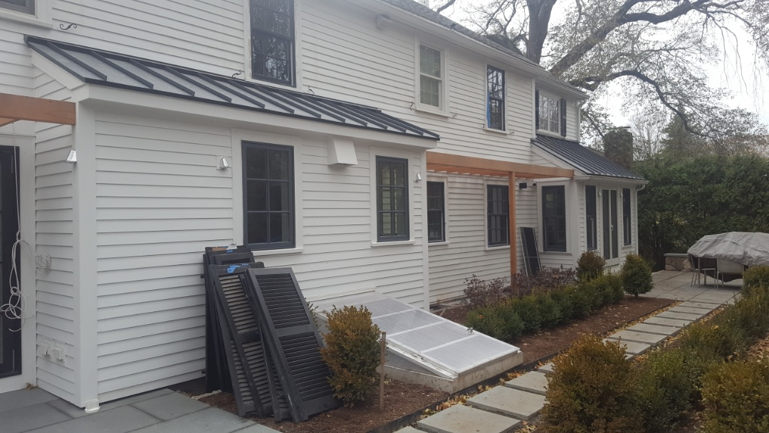 Newton, MA - Accent roofs in aluminum metal standing seam