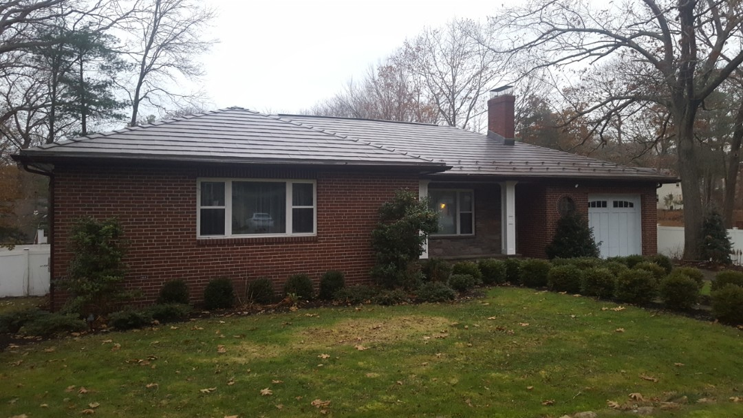Hingham, MA - Aluminum metal shingles color shake gray