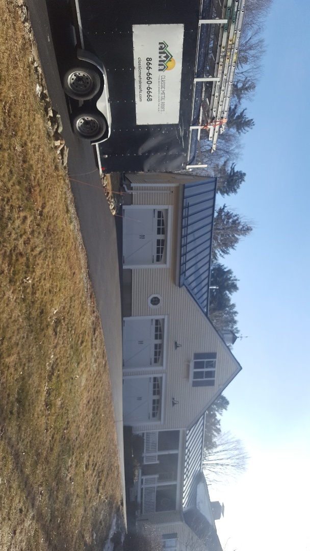 Grafton, MA - Beautiful aluminum standing seam metal accent roofs in North Grafton Mass