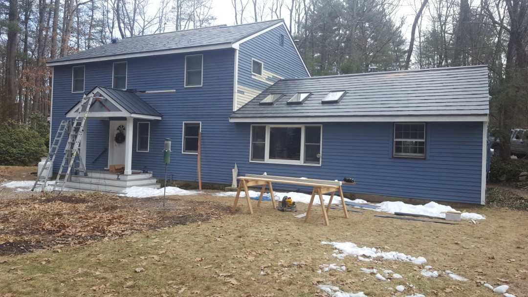 Stow, MA - Aluminum metal shingles color Vermont Slate