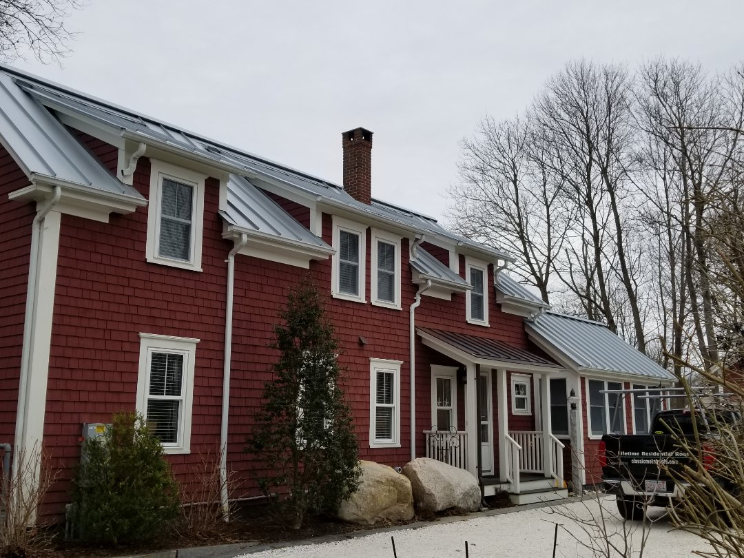Falmouth, MA - Aluminum standing seam roof on an antique Cape on the cape....beautiful metal roof.