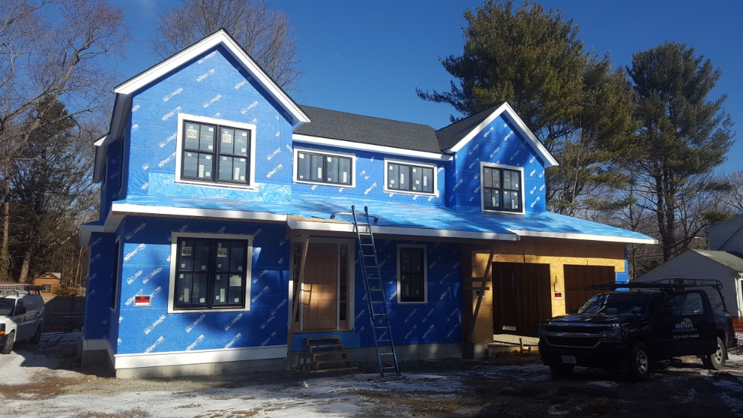 Wellesley, MA - Just getting started on the next aluminum metal  roofing project in Wellesley Mass.