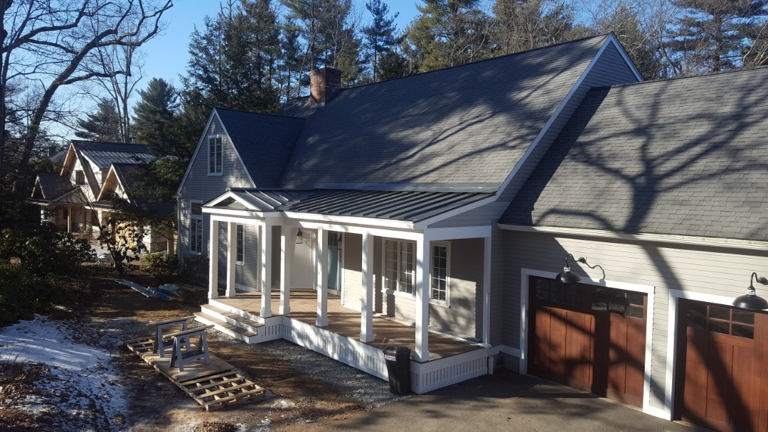 Concord, MA - Aluminum metal standing seam roof in Concord Mass