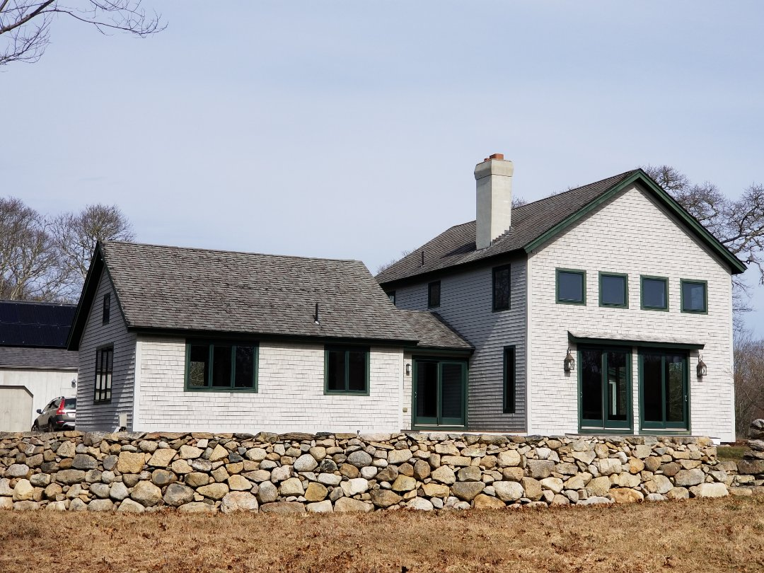 Dartmouth, MA - Beautiful timber frame ready for an upgrade from asphalt shingle to aluminum standing seam metal roof.
