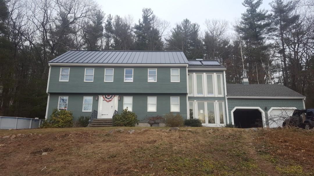 Littleton, MA - New aluminum metal standing seam roof in Littleton Mass