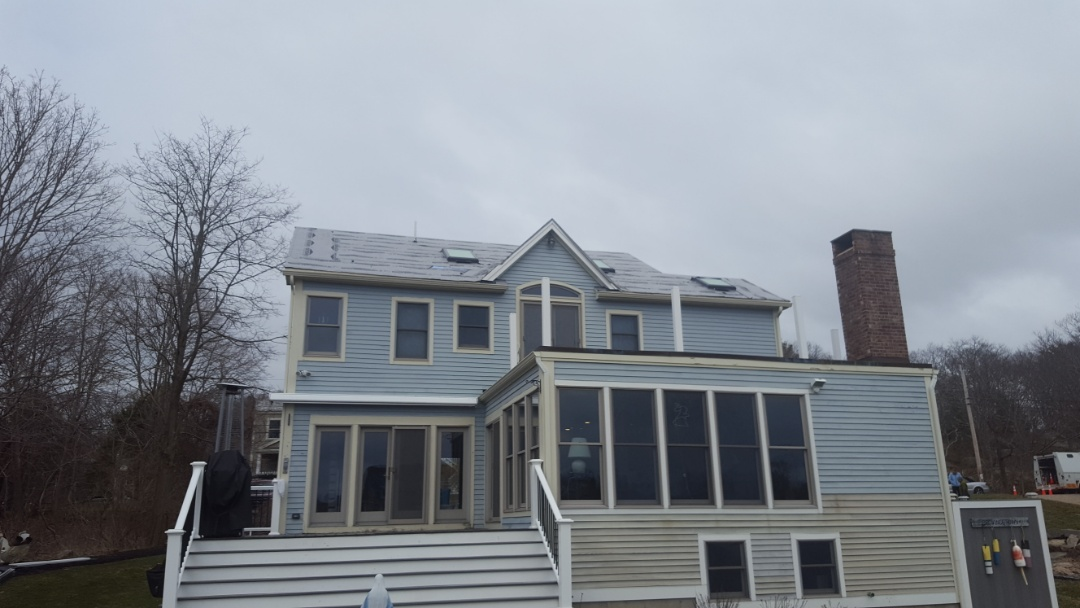 Gloucester, MA - Getting ready for aluminum metal standing seam roof in Gloucester Mass