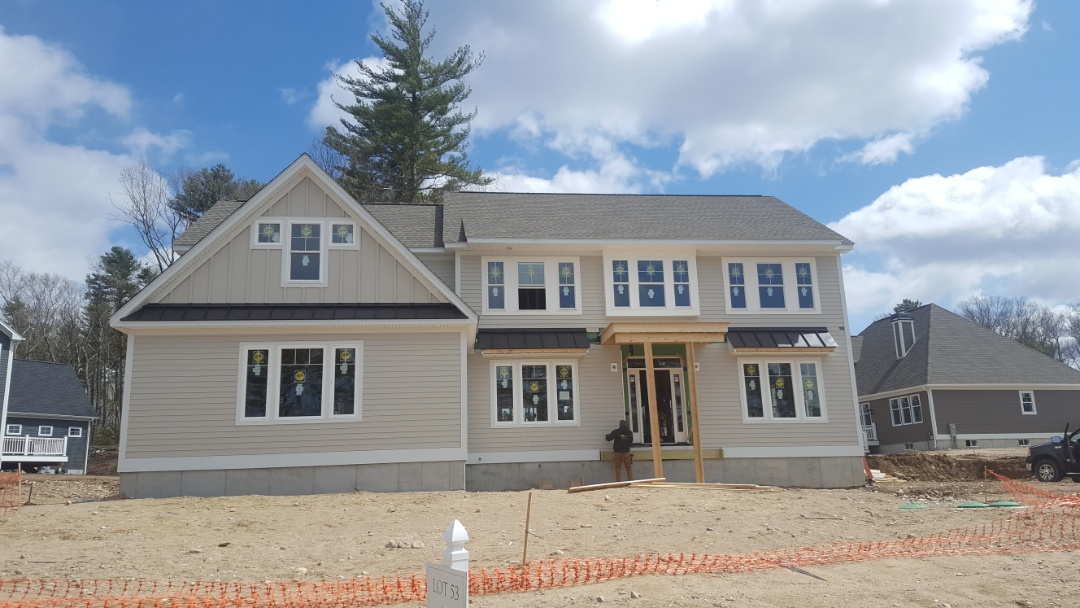 Wrentham, MA - Aluminum metal standing seam accent roofs in Wrentham Mass