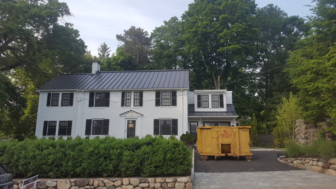 Newton, MA - New aluminum metal standing seam roof