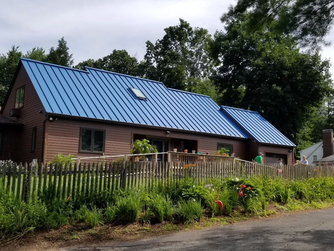 South Hadley, MA - Standing seam aluminum roof. Last a lifetime. Ready for solar.