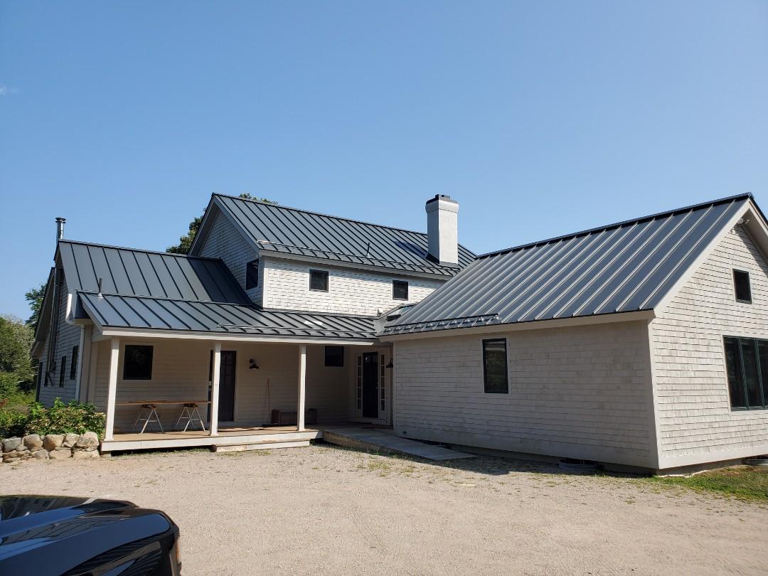 Dartmouth, MA - New aluminum metal standing seam roof