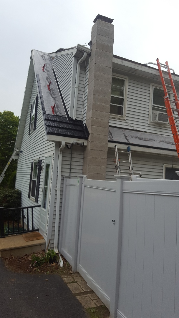 Worcester, MA - New Project ! strip and install Rustic shake aluminum roof , just getting started.