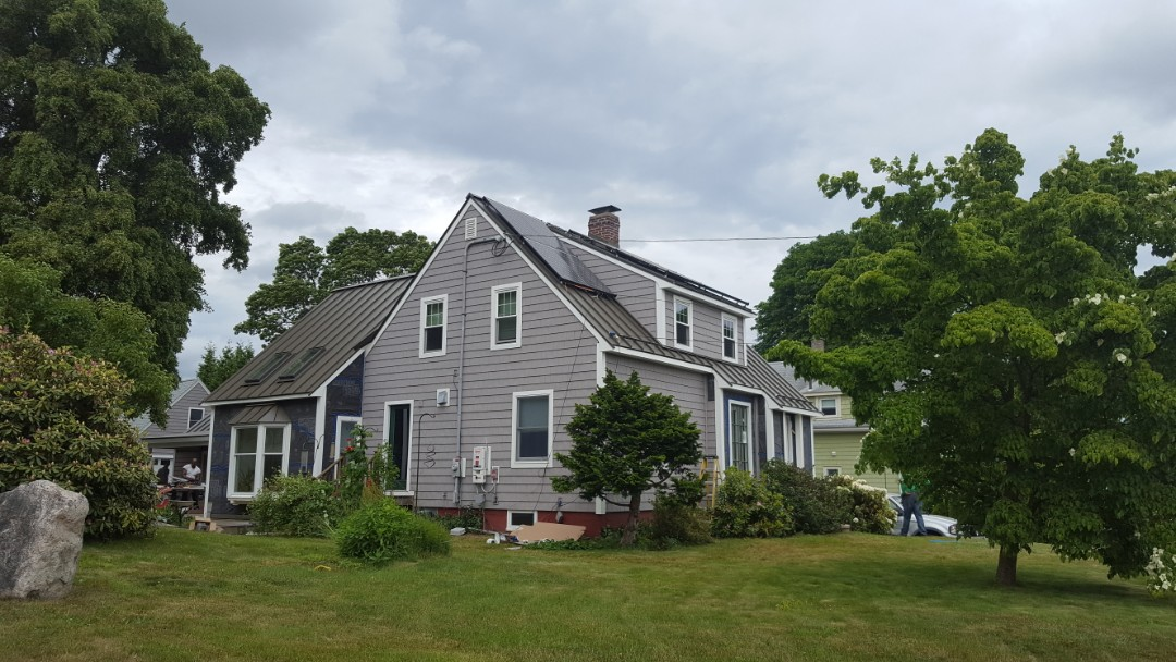Lynn, MA - Median bronze standing seam roof in Beverly mass 2 years old