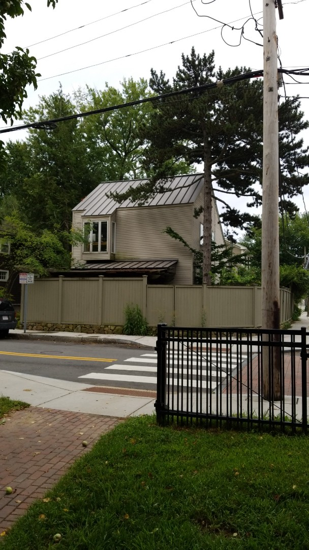 Cambridge, MA - Standing seam aluminum roof in slate gray.