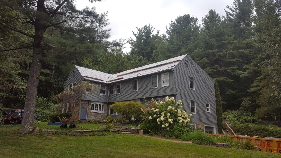Granby, CT - Soon this house in West Granby conn will be getting a lifetime aluminum standing seam metal roof