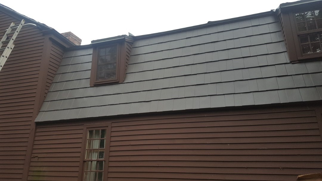 Granby, CT - Oxford aluminum metal shingles color shake gray in Granby Conn